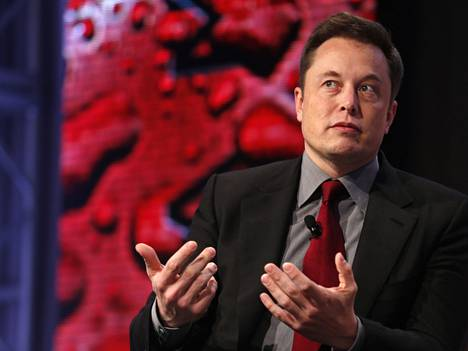 Elon Musk Automotive World News Congressissa tammikuussa.