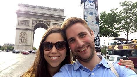 Heidi ja Mikko nauttivat toisistaan ja romanttisesta Pariisista.