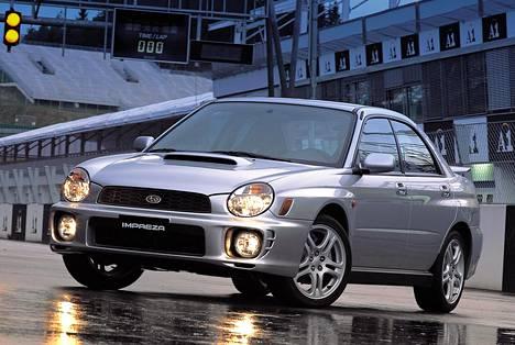 Subaru Impreza WRX. Kuva vuodelta 2001.