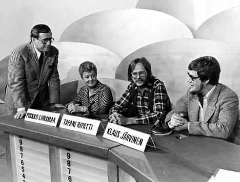 Pirkko Liinamaa, Klaus Järvinen ja Tapani Ripatti olivat Levyraadin vakiokasvoja.