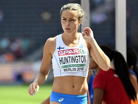 Huntington teki ensiesiintymisen aikuisten arvokisoissa Berliinin EM-kisoissa 2018.