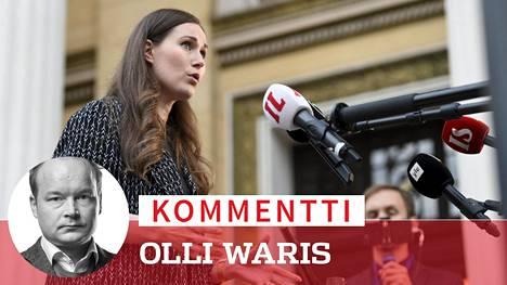 Pääministeri Sanna Marin (sd) kertoi, että karanteeniasiassa on kyse viranomaispäätöksestä. Hallitus ei tule tekemään asiasta poliittista päätöstä.