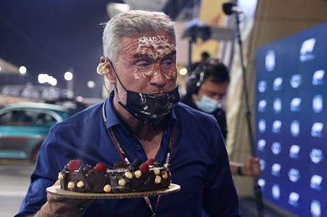 Tältä näyttää kakutettu F1-legenda.