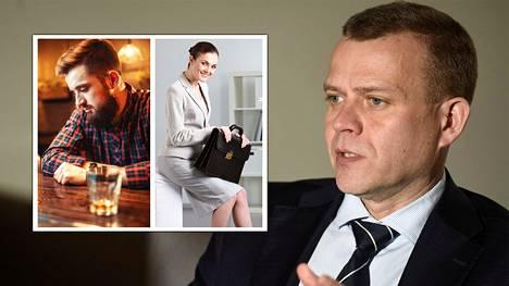 Valtiovarainministeri Petteri Orpo on huolissaan, koska nuorten miesten ja naisten maailmat eriytyvät: yhä useampi nuori mies syrjäytyy, ja samanaikaisesti yhä useampi nuori nainen menestyy. Kuvituskuva.