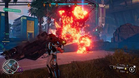 Räjähdykset ovat näyttäviä ja tärkeässä osassa peliä.