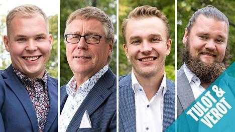 Arttu, Jouko, Juho ja Lauri hakivat morsianta televisiossa.