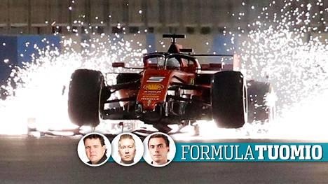 Sebastian Vettel teki kohtalokkaita virheitä Bahrainissa.