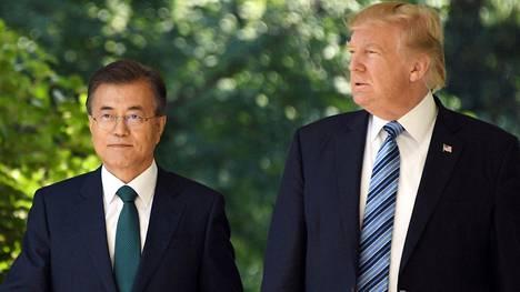 Etelä-Korean presidentti Moon Jae-in oli Donald Trumpin vieraana Valkoisessa talossa edellisen kerran viime kesänä.