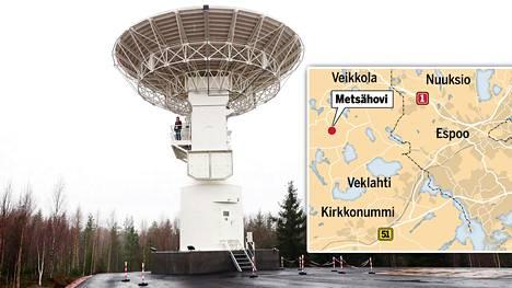 Radioteleskooppi Metsähovin radiotutkimusasemalla.