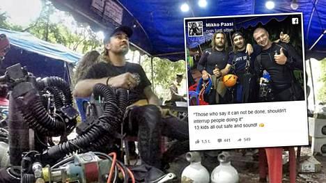Suomalainen sukeltaja Mikko Paasi osallistui vapaaehtoisena Thaimaassa jalkapallojoukkueen pelastusoperaatioon.