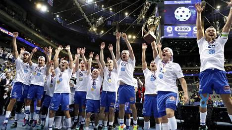 Suomi juhli maailmanmestaruutta neljännen kerran Prahassa joulukuussa 2018.