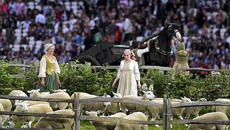 Olympiastadion on lampaiden temmellyskenttä.