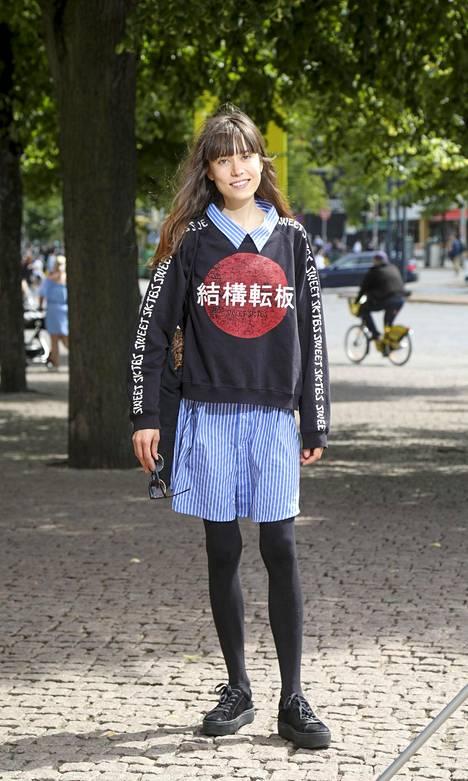 Paitapuseron ja collegen yhdistelmä on ajankohtainen tyylikikka.