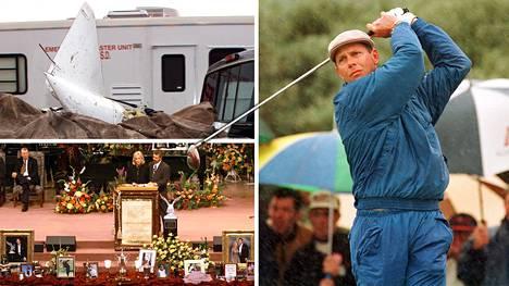 Golfmiljonääri Payne Stewart kuoli lento-onnettomuudessa 20 vuotta sitten. Hänen vaimonsa Tracey piti puheen rakastetun tähden muistotilaisuudessa.
