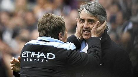 Valioliigan mestaruus tietää Roberto Mancinille tatuointia.