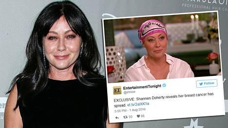Shannen Doherty, 45, muistetaan muun muassa sarjoista Beverly Hills 90210 ja Siskoni on noita.
