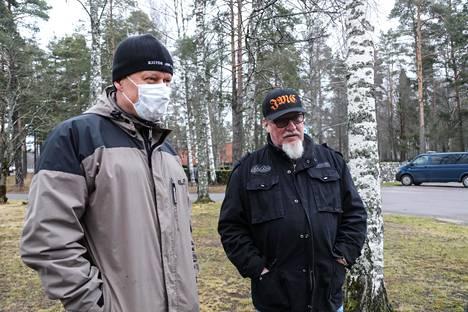 Jussi Suurinkeroinen (vas.) ja Harri Silvast.