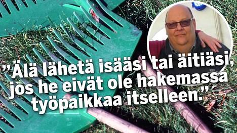 Toimitusjohtaja Juha Paukkunen kirjoitti itseltään kuulostavan työpaikkailmoituksen.
