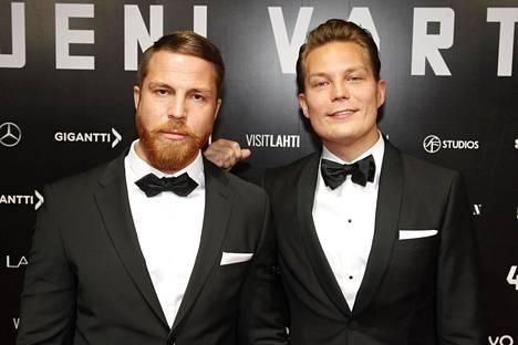 Jere ja Jare Tiihonen Veljeni vartija -elokuvan kutsuvierasensi-illassa viime vuonna.