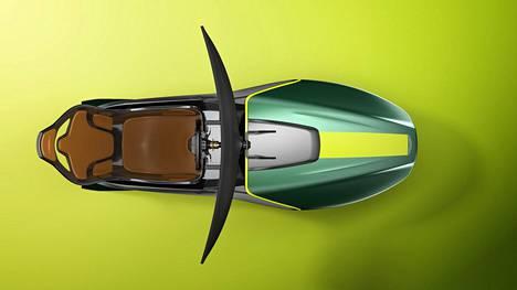 Simulaattorin muotoiluun ja väreihin on haettu inspiraatiota Aston Martinin helmistä.
