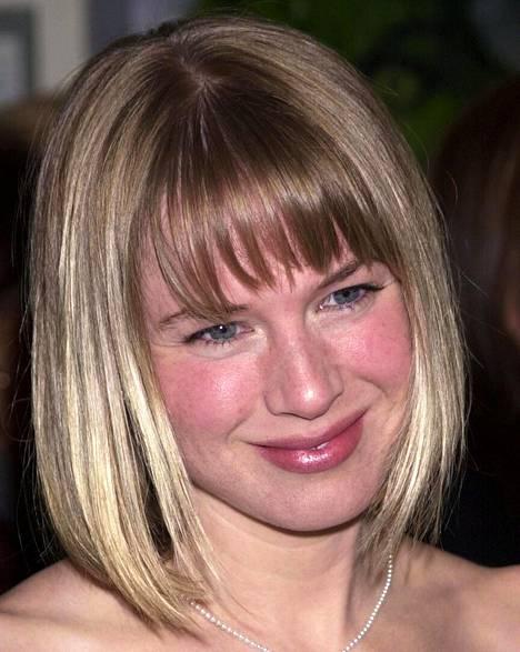 Renee Zellwegerin tukkatyyliä vuodelta 2000.