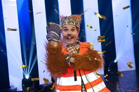 Joonas Nordmanin hahmo, liitto-orava Pasi Salme, kruunattiin Putouksen sketsihahmokisan voittajaksi viime vuonna.
