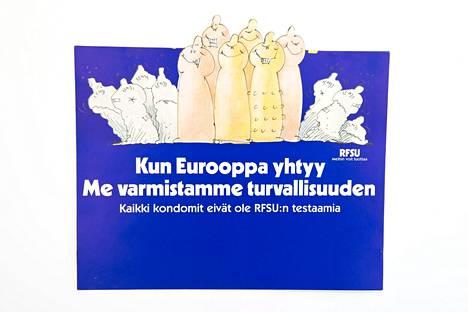 Kondomimainos EU-hengessä.