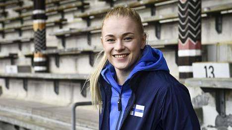Wilma Murto otti tuntumaa Tukholman olympiastadioniin perjantaina.