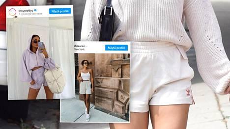 Moni trendikäs pukeutuja suosii nyt sweatshortseja.