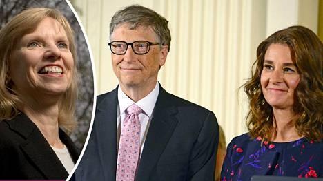 Bill Gates on edelleen hyvissä väleissä nuoruusvuosiensa ex-tyttöystävän Ann Winbladin (vas.) kanssa.