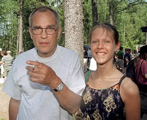 Jörn Donner ja Susanna Vennamo kuvattuna kesällä 1999.