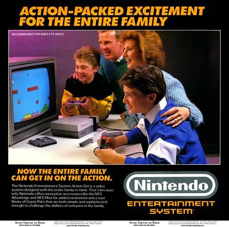 Tähän tapaan Super Mario Bros. -peliä mainostettiin aikanaan, kun se julkaistiin NES-konsolin kanssa. Peli saapui Japaniin vuonna 1985, mutta Suomessa julkaisua piti odottaa kaksi vuotta.