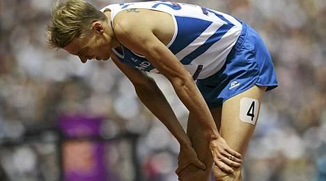 Jukka Keskisalon olympiafinaali jätti leikin kesken.