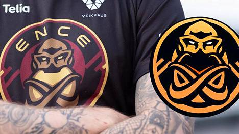Pelipaidassa näkyy ENCEn alkuperäinen logo, joka on nyt joutunut muodonmuutoksen kohteeksi.