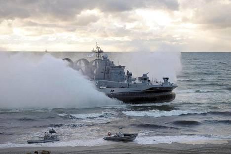 Sotilasalus Kaliningradin edustalla vuoden 2013 Zapad-harjoituksessa.