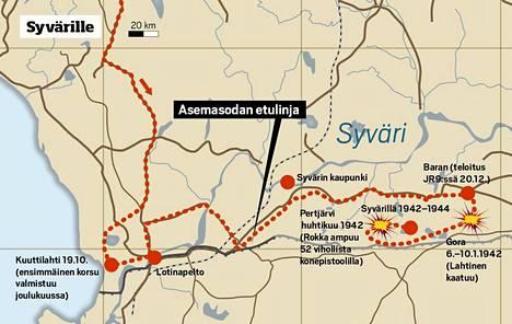 JR 8 siirretään Syvärin taakse. Venäläiset hyökkäävät tosissaan keväällä 1942 kelirikkotaisteluissa. Linna sijoittaa Lahtisen kaatumisen näihin taisteluihin.