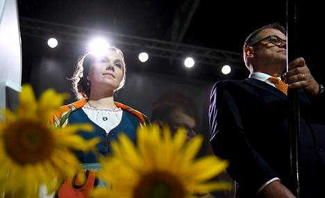 Katri Kulmuni ja Juha Sipilä puoluekokouksessa Kouvolassa syyskuussa.