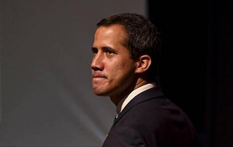 Venezuelan oppositiojohtaja Juan Guaido kuvattiin Caracasissa 3. toukokuuta 2019.