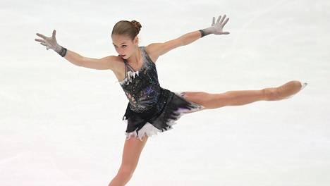 Aleksandra Trusova EM-kisoissa tammikuussa 2020.