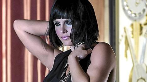 Britney Spears bob-peruukissa ja bodyssa.