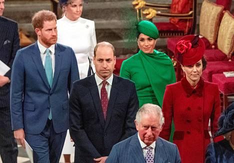 Meghan ja Harry edustivat muun kuninkaallisen perheen kanssa kuninkaallisina viimeisen kerran 9. maaliskuuta.