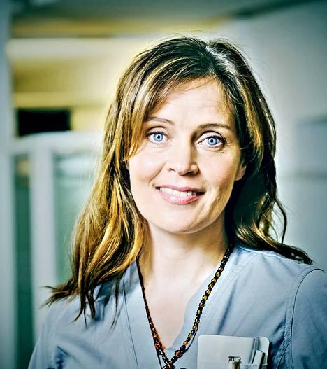 2014: Tiina Lymi on saanut kiitosta roolisuorituksestaan Syke-sarjan herkkänä Marleenana.