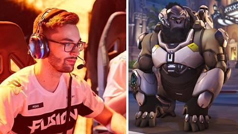 """Fusion-joukkueen Gael """"Poko"""" Gouzerch on yksi muutosta kommentoineista pelaajista. Winston kuuluu pelin tunnetuimpiin tank-hahmoihin."""