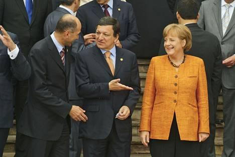 Angela Merkeliä on julkisessa keskustelussa usein nimitetty Euroopan tosiasialliseksi johtajaksi.