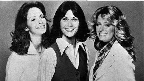 Charlien enkeleiden ensimmäisen kauden kokoonpano on sen muistettavin: Jaclyn Smith, Kate Jackson ja Farrah Fawcett.