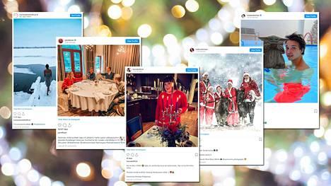 Tunnetut suomalaiset ovat julkaisseet Instagramissa jouluisia kuvia.