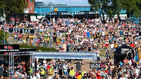 Tammerfest järjestetään tulevana viikonloppuna. Kuvassa festivaalitunnelmaa vuodelta 2019.