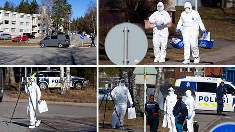 Poliisi sai lauantaiaamuna ilmoituksen ampumisesta kerrostalossa Turun Pernossa.