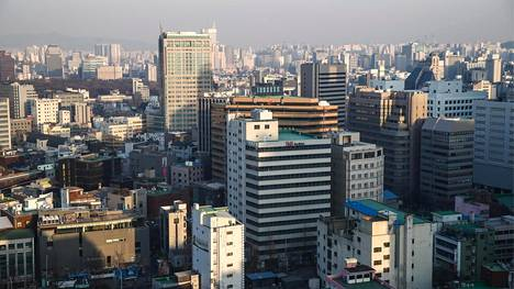 Kuva Korean pääkaupungista Soulista.