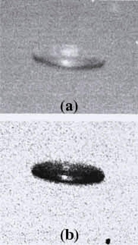 """Ufotutkimukseen ja parapsykologiaan keskittynyt vaihtoehtotieteellinen Journal of Scientific Exploration -lehti julkaisi vuonna 1998 kuvan mahdollisesta """"ufohavainnosta""""."""